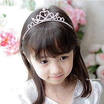 Amazon.com   Quantity 1x Korean children Crown Tiara Party Wedding Headband  Women Bridal Princess Birthday Girl Gift Princess crystal jewelry ... 5c03f8a54885
