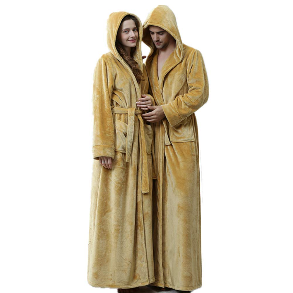 407afa5a02 KKING Mens Full Length Fleece Robe Plus Size Super Soft