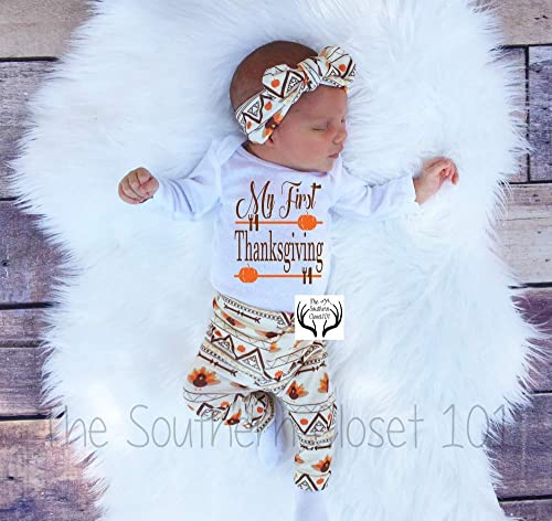Toddler Girl Thanksgiving Outfit Baby Girl First Thanksgiving Outfit Girls Thanksgiving Outfit AA120 Baby Girl Thanksgiving Outfit