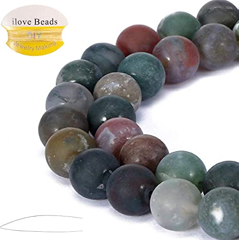 4//6//8//10//12mm Round Natural Gemstone Crystal Loose Spacer Beads Jewelry Making