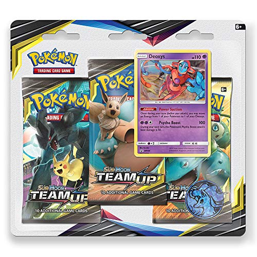 Pokemon TCG: Sun & Moon Team Up, Blister Pack Containing 3 Booster Packs and Featuring Promo Card Deoxys