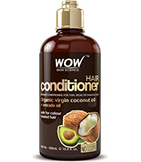 WOW Hair Conditioner - Coconut & Avocado Oil - Restore Dry, Damaged Hair - Increase