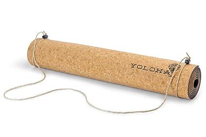 Yoloha Alfombra de Yoga Corcho Nomad: Amazon.es: Deportes y ...