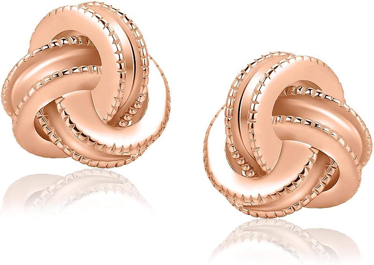 TRENDY EARRINGS *SENSATION ROSE* 24K GOLD PLATED STERLING SILVER