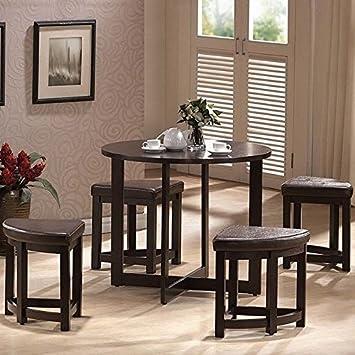Amazon Com Baxton Studio Rochester Brown Modern Bar Table Set