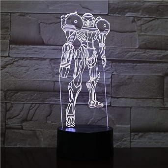 3D Luz Nocturna Armor Movie Figure 3D Multicolor Cambio De Mesa ...