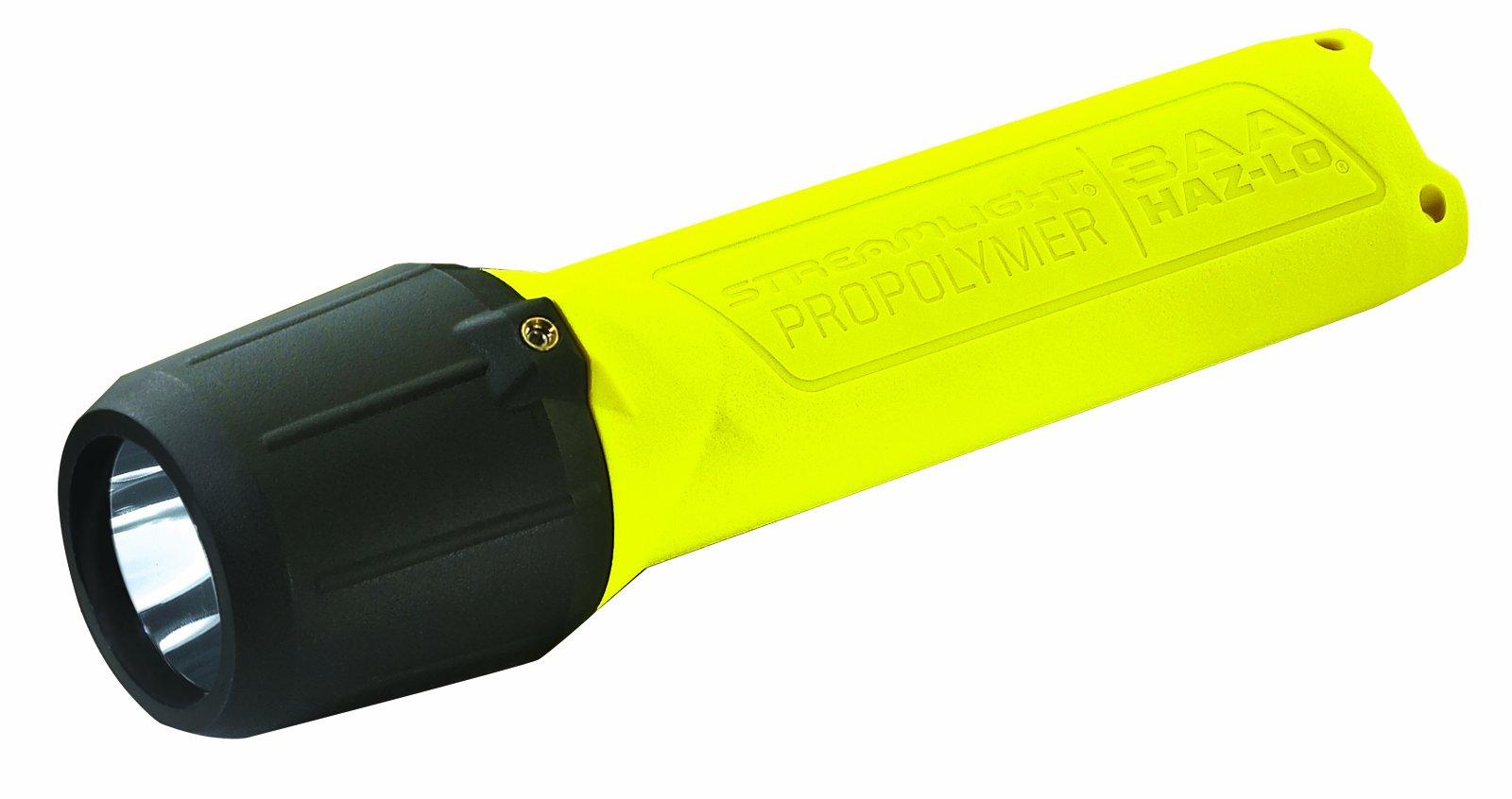 Streamlight 68720 3AA ProPolymer HAZ-LO Safety Rated Flashlight, Yellow - 120 Lumens