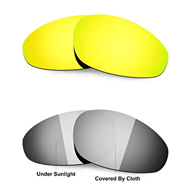 68ecc20b8a Hkuco 24K Gold Transition Photochromic Polarized Replacement Lenses For  Oakley Straight Jacket 1999 Sunglasses