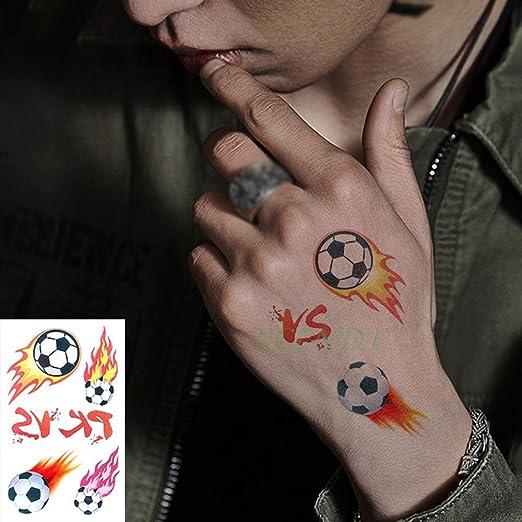 7pcs Impermeable Etiqueta engomada del Tatuaje Temporal de fútbol ...