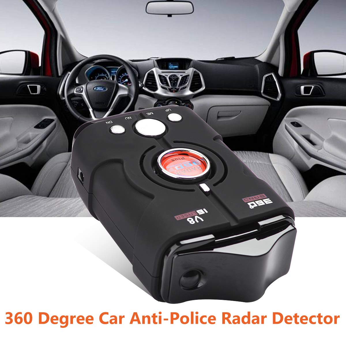 Amazon.com: Laser Radar Detector with 360 Degree Detection Voice Alert and Speed Alarm System, City/Highway Mode: Electronics