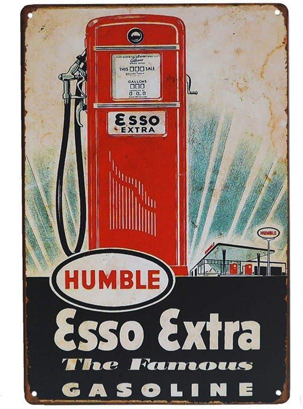 No dream Esso Etra The Famous Gasoline Ferro Dipinto Poster da Parete in Metallo Vintage Band Poster targhe in Metallo segni retr/ò Garage Targa Ufficio Hotel Bar