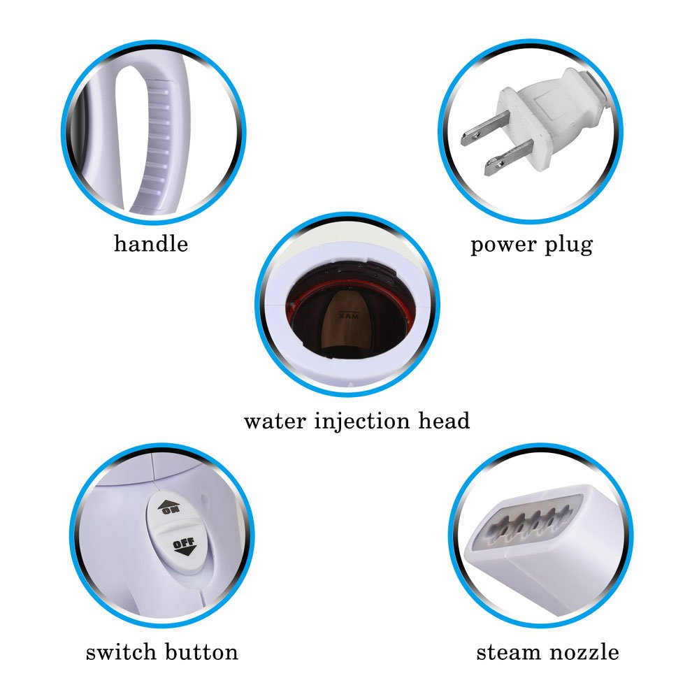 misokoo Steamer For Clothes, Clothes Steamer,Portable Steamer For Clothes Portable Garment Steamer 850 Watt Powerful Clothes Steamer Wrinkle Remover. Reject Spit Out Water Compact-Travel Steamer by misokoo (Image #6)