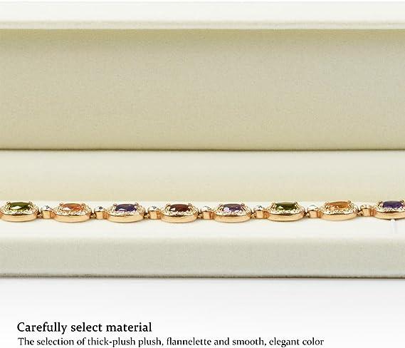 Oirlv Velours rouge Collier bracelet longue cha/îne de rangement Bijoux Cadeau Des boites