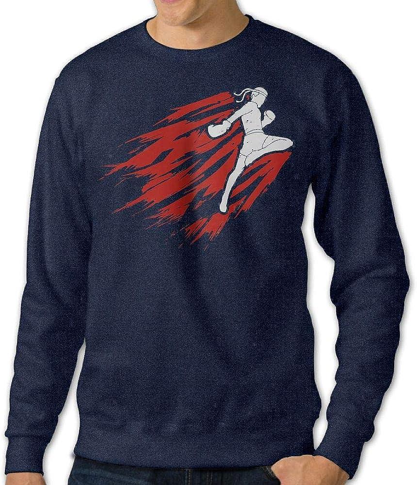 Jiongjiu/&256 Mens Muay Thai Crewneck Long Sleeve EcoSmart Fleece Sweatshirt Sweaters