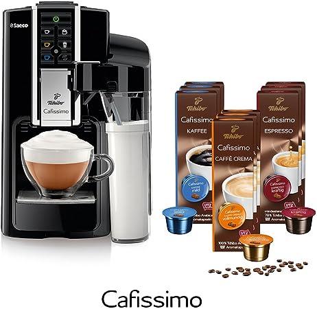 Tchibo Saeco Cafissimo Latte Nero Incluye 90 Cápsulas – Cafetera eléctrica (para filtro de café, Café expreso, Café con leche Machi Atto, Capuccino o té): Amazon.es: Hogar
