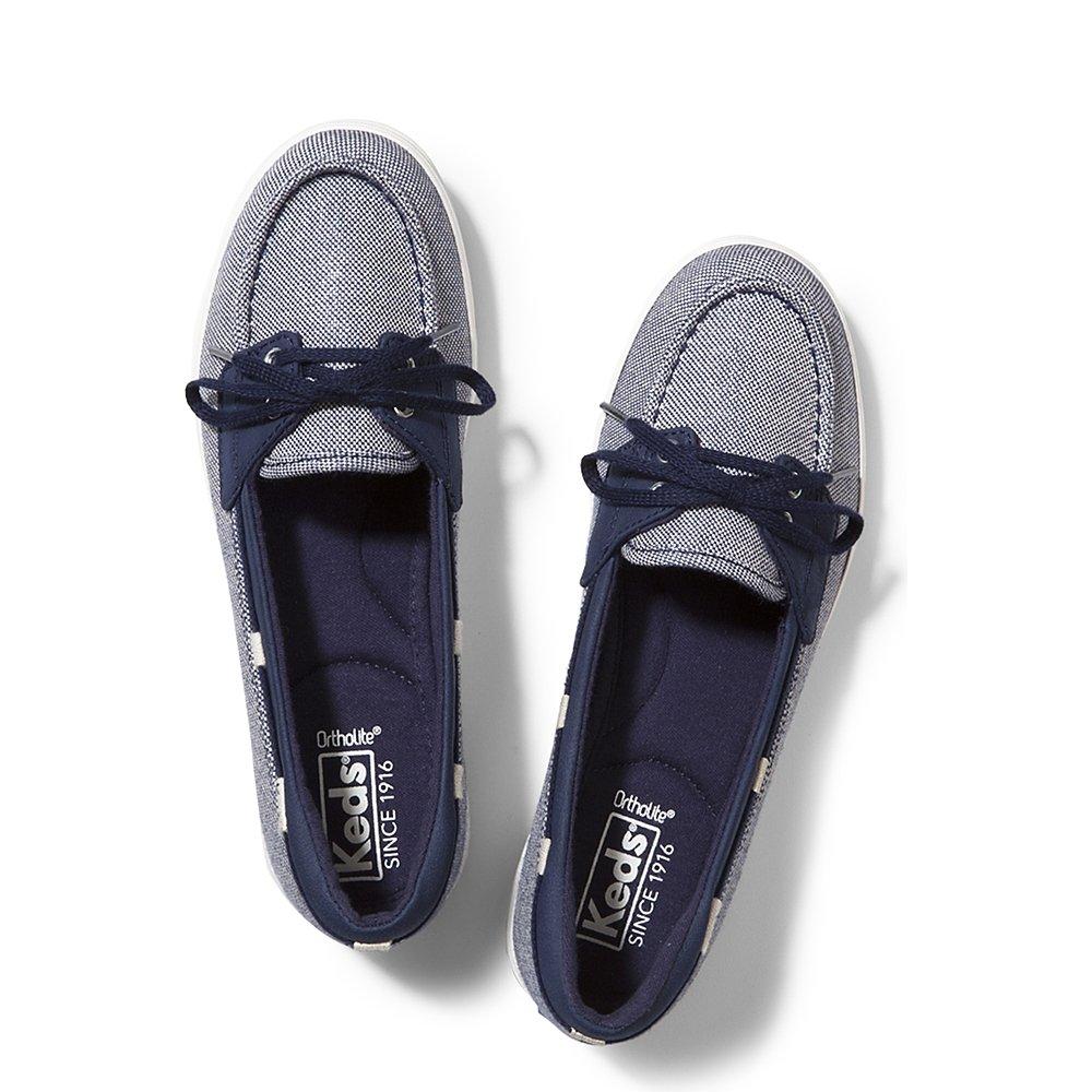 Keds Women's Glimmer Sparkle Fashion Sneaker, Navy, 10 M US