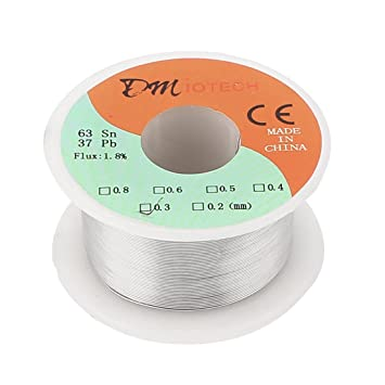 uxcell 50g 0.3mm Rosin Core Solder Tin Lead Wire 63/37 for ...