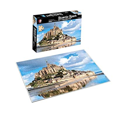 Meikosks 500 Piece Jigsaw Puzzle Adults Puzzles Gift for Kids Famous Building Puzzle Game Interesting Toys Personalized Gift - Mont Saint Michel Castle: Toys & Games