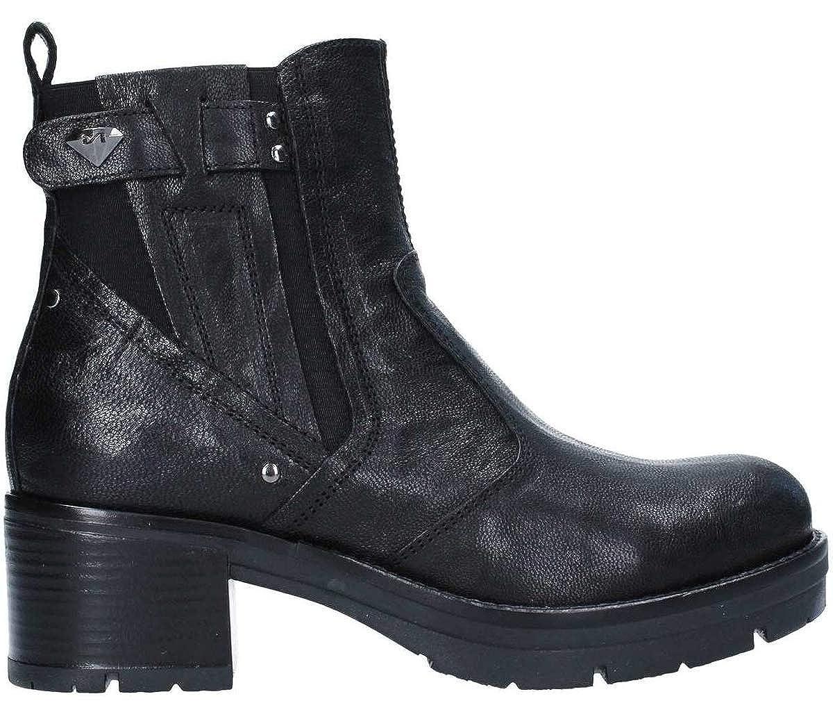 schwarz schwarz schwarz Giardini schuhe damen Stiefel Pelle nera A807129D 100  67b871