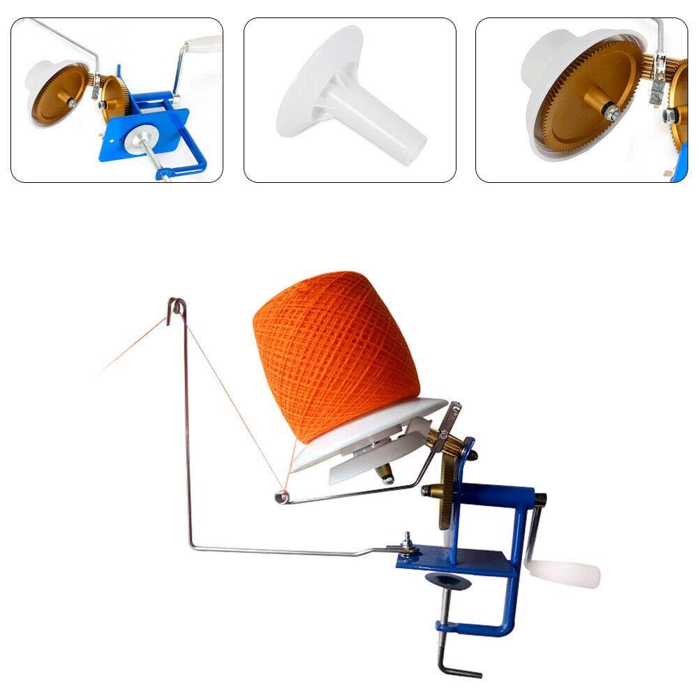 Senderpick Needlecraft Yarn/Fiber/Wool/String Ball Winder Heavy Duty Metal 500g Capacity Hand Operated