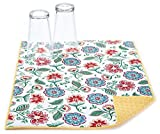 Traditional Floral Jacobean Reversible Dish Drying Mat