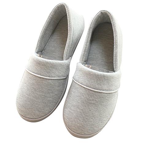 Pantofole di Cotone per Donna - Antiscivolo Scarpe Maglia Scarpe Chiuse  Ciabatte Invernali da Pingenaneer 22CM 7d38894beff