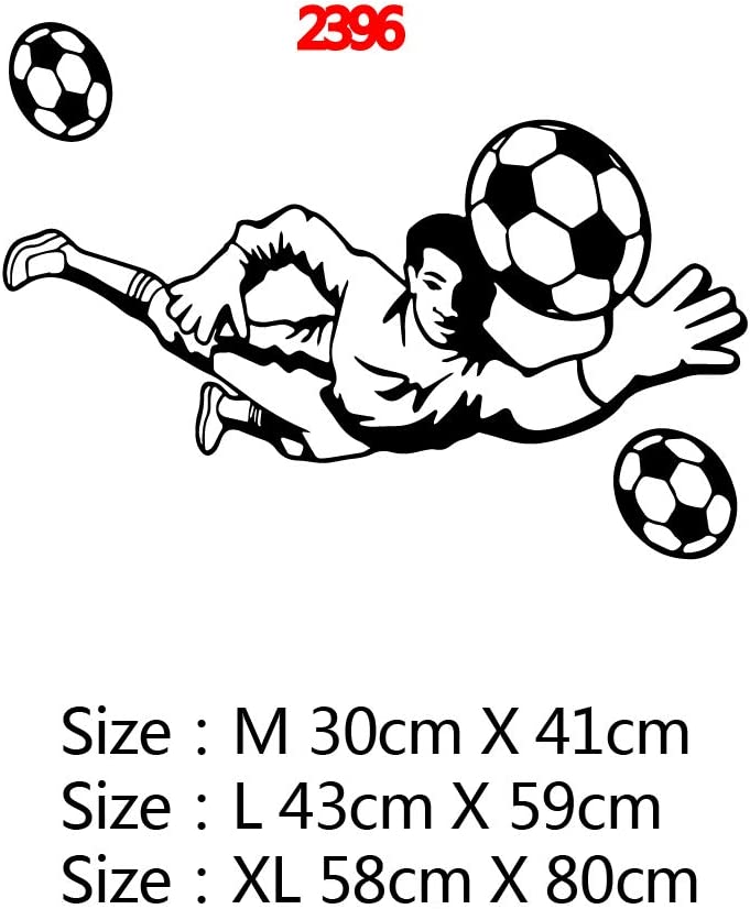 58 * 80cm de jugador de futbol sala de pegatinas de pared ...