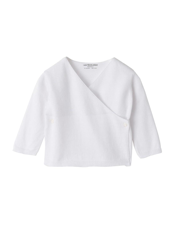 VERTBAUDET Brassière tricot bébé coton bio Blanc 6M - 67CM  Amazon.fr   Bébés   Puériculture 5781b73c9e2