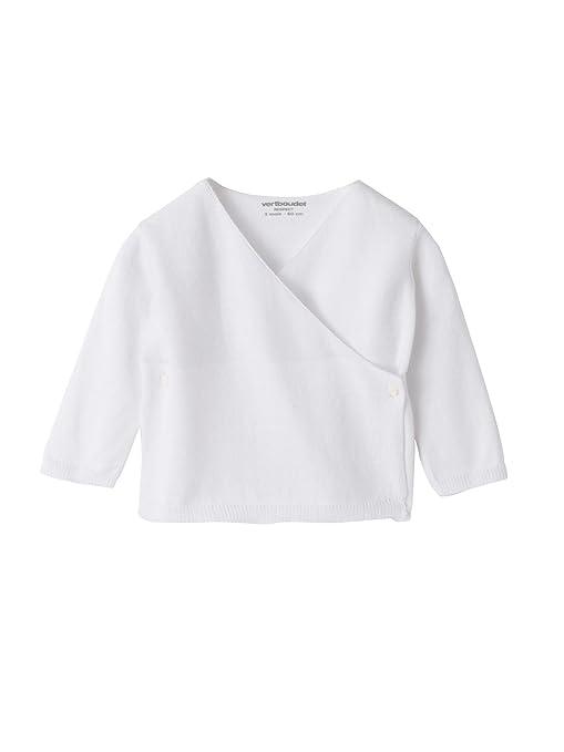 VERTBAUDET Brassière tricot bébé coton bio Blanc 6M - 67CM  Amazon ... e250b1e5947