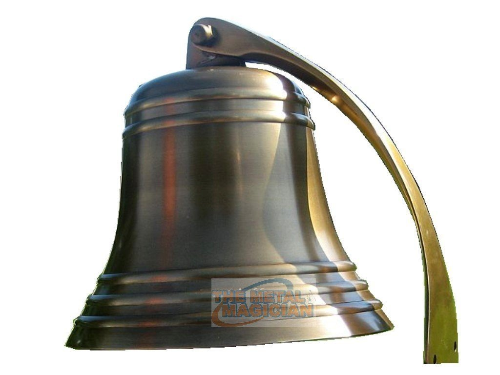 2'' Antique Ship?s Bell Maritime Duty Watch/Indoor/Outdoor/Last Orders/Pub/Door/School/Dinner/Reception Wall Mountable Brass Bell With Wall Mount By The Metal Magician
