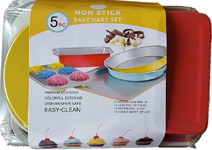 Amazon Com Culinary Edge Non Stick Bakeware Set Kitchen Dining