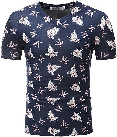 Camisetas Deporte Ropa Deportiva Camisa de Manga Corta de CamuflajeCasual para Hombres Moda de Verano Print Tops: Amazon.es: Ropa y accesorios