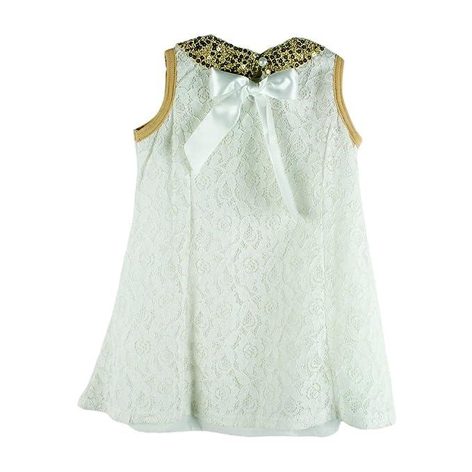 ecdcb82e0526 Amazon.com  stylesilove Baby Kids Girl Lace Tunic Mini Dress with ...