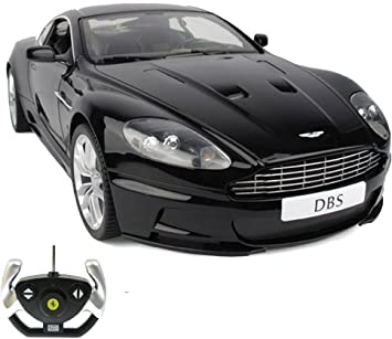 Aston Martin Dbs Coupe Rc Radio Controlled Car Original Style Model Scale 1 14 Licensed Ready To Drive Car With Remote Control New Amazon De Spielzeug