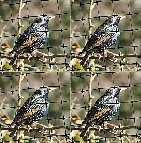 Bird-X Standard Bird Netting Ideal for Gardens and Lightweight Applications, 100' by 14' (Pack of 4) by Bird-X