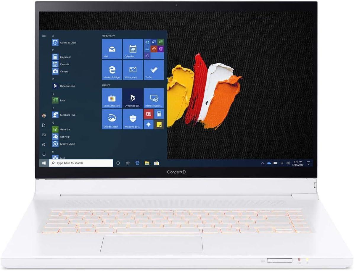 "ConceptD 7 Ezel CC715-71-72JD Convertible Creator Laptop, Intel i7-10750H, GeForce RTX 2070, 15.6"" 4K UHD IPS, Pantone Validated, 100% Adobe RGB, 32GB DDR4, 2TB NVMe SSD in RAID 0, Wacom EMR Pen"
