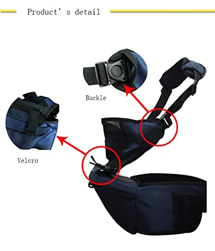 Hi 8/Store multifuncional para carrito de beb/é con correa para el hombro ajustable transpirable cintura beb/é taburete Sling azul azul marino