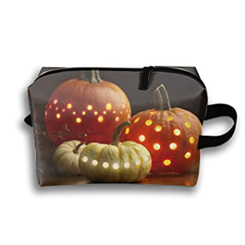 Cosmetic Bags Holiday Halloween Portable Travel Toiletry Pouch Clutch Bag with Zipper