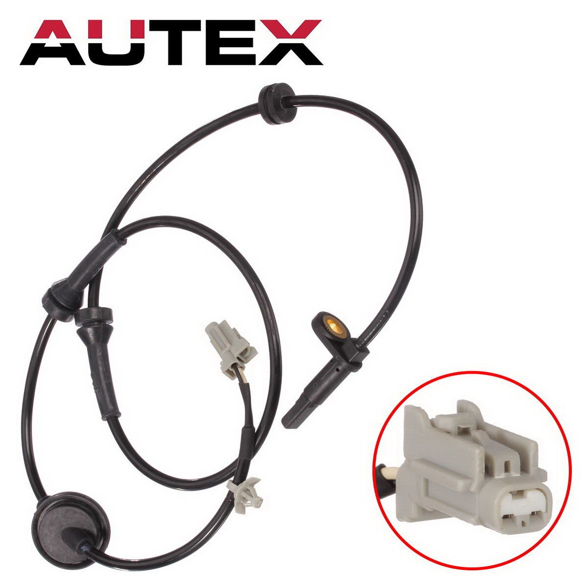 AUTEX 1pc ABS Wheel Speed Sensor ABS Sensor Right Front Passenger Side ALS286 47910-CA000 compatible with 2004 2005 2006 2007 2008 Nissan Murano 4-Door 3.5L 2004 05 06 07 08 Nissan Murano 4-Door 3.5L PartsSquare