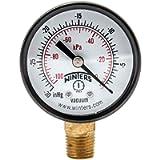 Winters PEM Series Steel Dual Scale Economy Pressure Gauge, 30'Hg Vacuum/kpa, 2' Dial Display, -3-2-3% Accuracy, 1/4…