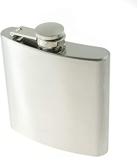 Se Hq6 6 Ounce Stainless Steel Hip Flask 3 3 4 Inch X 7 8 Inch X 4 1 4 Inch Amazon Ca Tools Home Improvement