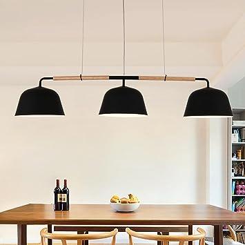 Hochwertig HJXJXJX Holz LED Anhänger Lampen Minimalismus Restaurant Kronleuchter  Hängende Ligh Höhe Einstellbar E27 * 3 [