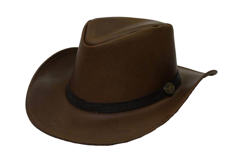 Chapeau Adelaide par Hazy Blue unisexe cuir cowboy australien cuir v/éritable