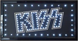 KISS Rock Band Flashing LED Hanging Man Cave Wall Sign for Garage, Bar, Mancave