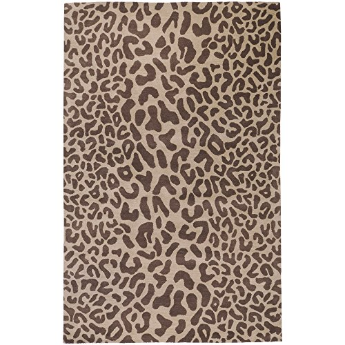 Surya Athena ATH-5000 Contemporary Hand Tufted 100% Wool Driftwood Brown 2'6'' x 8' Animal Runner by Surya