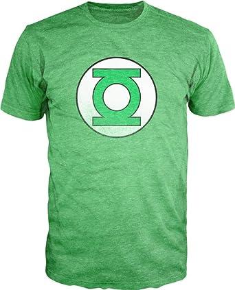 a3f28589 Amazon.com: DC Comics Green Lantern Logo Heather Tee Shirt: Clothing