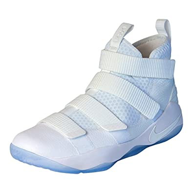 outlet store 4a422 6ca9c Nike Lebron Soldier XI Mens Basketball Shoes (White/Pure Platinum  Blanc/Platine Pur, 12 M US)