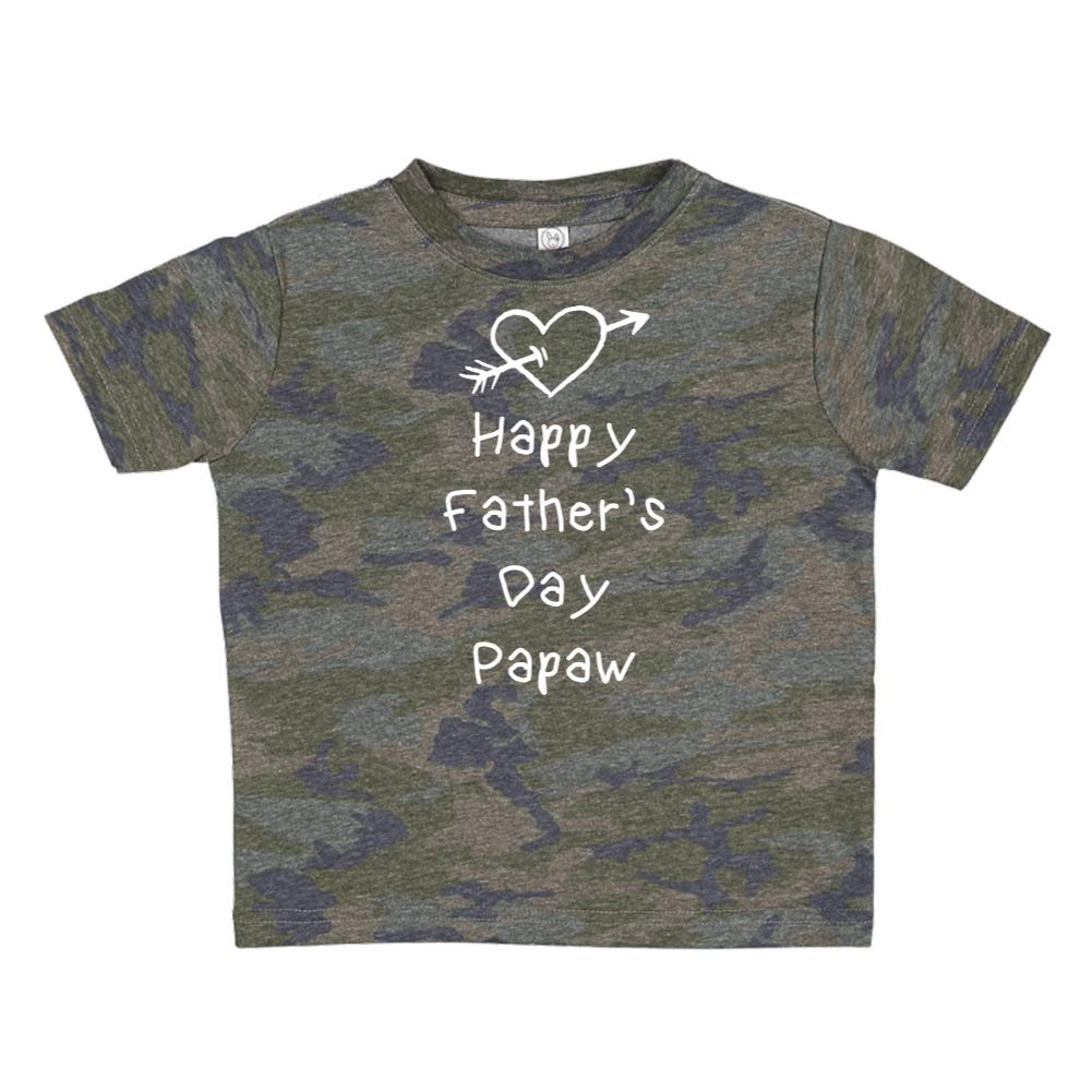 Heart and Arrow Happy Fathers Day Papaw Toddler//Kids Short Sleeve T-Shirt