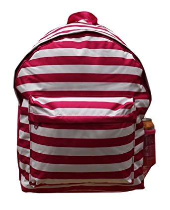 e19961a55d4 Pack It Up Youth Kids Print School Travel Book Bag Rucksack Backpack (Pink  Stripe)