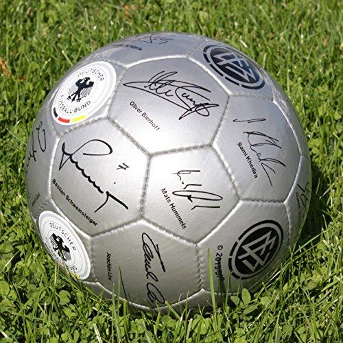 4UNIQ DFB Fußball Unterschriftenball Größe 5 aufgepumpt, grau